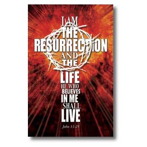 I am the Resurrection Church Postcards