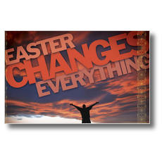 Easter Changes Everything Postcard