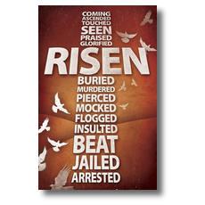 Risen Cross Postcard