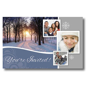 Winter Path Church Postcards