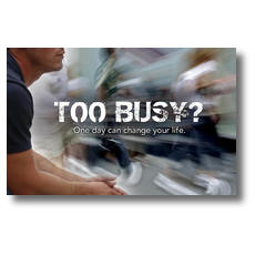 Too Busy Postcard