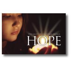 Light Brings Hope Postcard