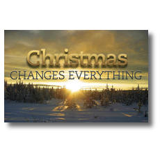 Christmas Changes Everything Postcard