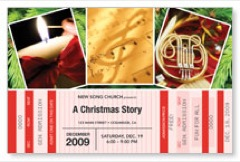 Christmas Ticket Postcard