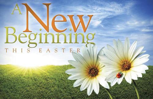 Easter New Beginnings Postcard Church Postcards