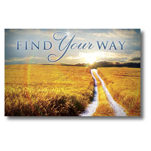 Find Your Way Field Church Postcards