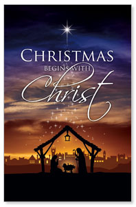 Christmas Begins Christ DIY Postcard Packs