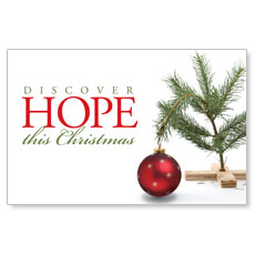 Hope Christmas Tree Postcard