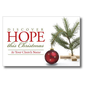 Hope Christmas Tree Church Postcards