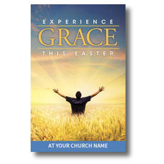 Experience Easter Field Grace Postcard