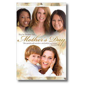 Mother's Day Faces Postcards