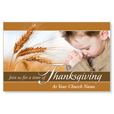 Thanksgiving Wheat Postcard