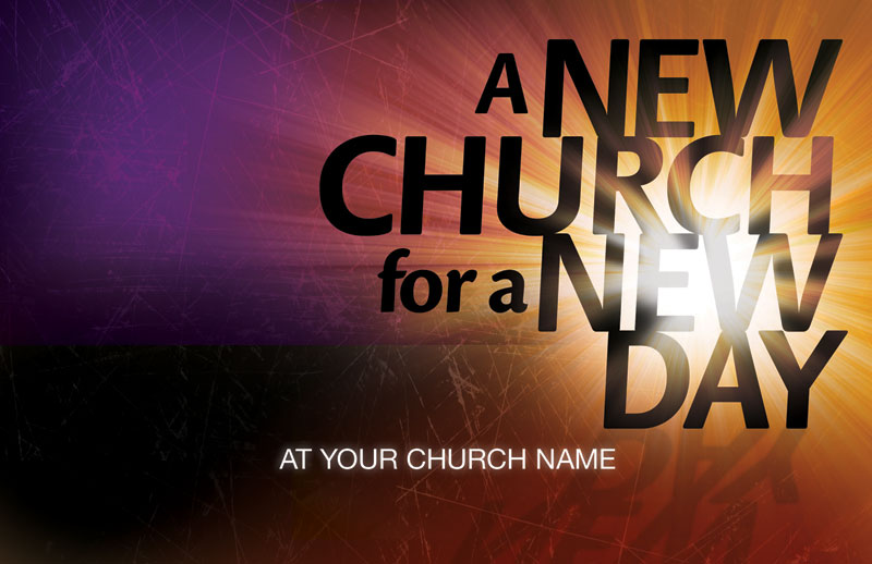 new church opening flyer