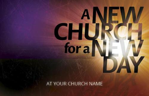 new church postcard - church postcards
