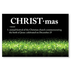 Christmas Definition Postcard