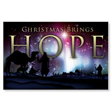 Christmas Brings Hope Postcard