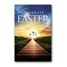 Easter Crosses Path Postcard