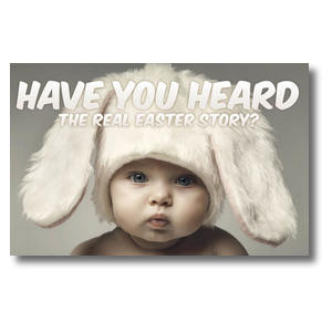 Baby Bunny Ears Church Postcards