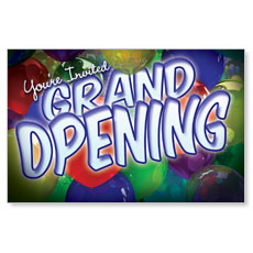 Grand Opening Balloons Postcard