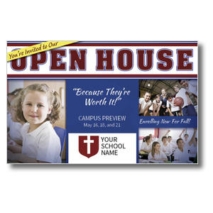 Christian School Open House Postcards