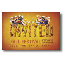Fall Invited Leaves Postcard