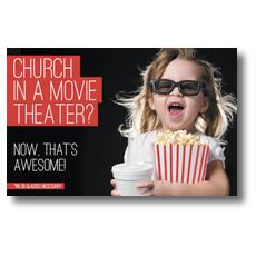 Movie Theater Church Postcard