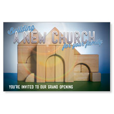 Church Building Blocks Postcard