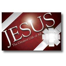 Jesus Greatest Gift Postcard