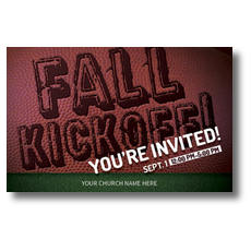 Fall Kickoff Football Postcard