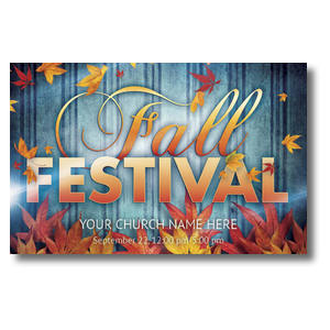 Fall Fest Blue 4/4 ImpactCards