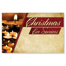 Christmas Eve Lights Postcard