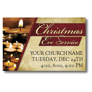 Christmas Eve Lights Church Postcards