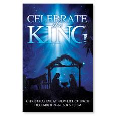 Celebrate the King M Postcard