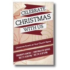 Christmas with Us Postcard