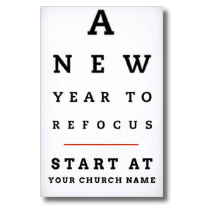Eye Chart Church Postcards