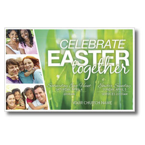 Easter Together Church Postcards