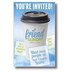 Friend Sunday Coffee Postcard