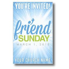 Friend Sunday Rays Postcard