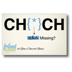 Friend Sunday Missing Postcard