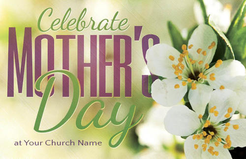 Church Postcards, Mother's Day, Celebrate Mothers Day, 5.5 X 8.5