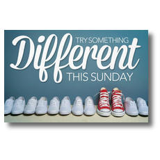 Different Shoes Church Postcard