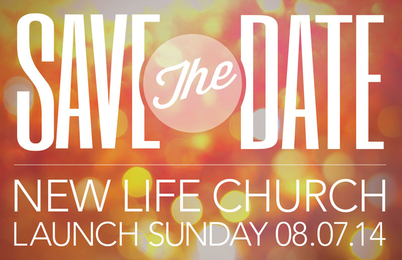 save the date postcard - church postcards