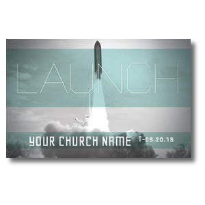 Launch Rocket Postcards