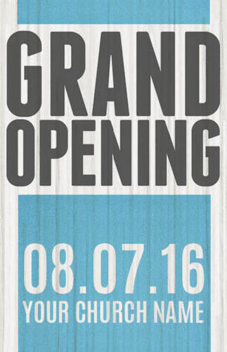 grand opening wood postcard church postcards outreach marketing