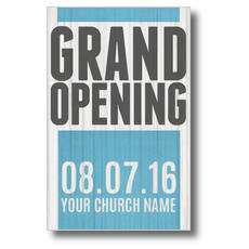 Grand Opening Wood Postcard