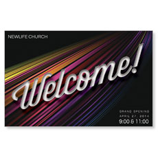 Color Flow Welcome Postcard