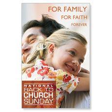 Family Faith Hug Postcard