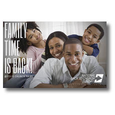 Family Time Stack Postcard