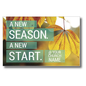 New Season New Start Postcards