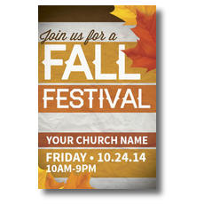 Fall Festival Stripes Postcard